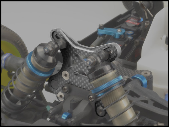 JConcepts 2501 5mm Carbon Fiber Front Shock Tower : RC8B3 / RC8B3e