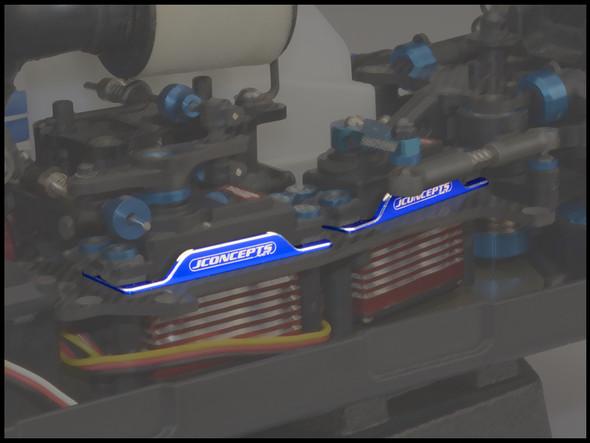 JConcepts 25051 Servo Bracket Blue : RC8B3 / RC8T3