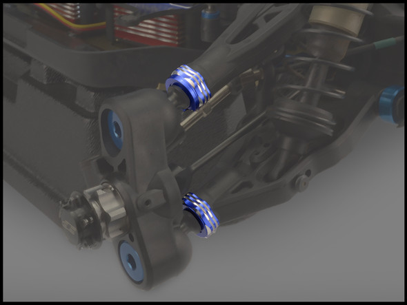 JConcepts 25061 Suspension Arm Cap/Camber Shim Set Blue : RC8B3
