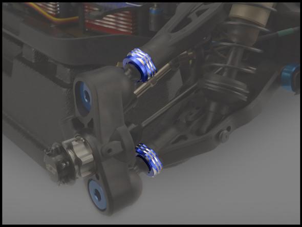 JConcepts 25062 Suspension Arm Cap/Camber Shim Set Black : RC8B3