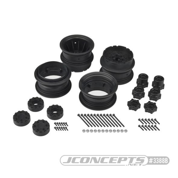 "JConcepts 3388B Krimson Dually Dual Truck Wheels 2.6"" Black (2) : SMT10"