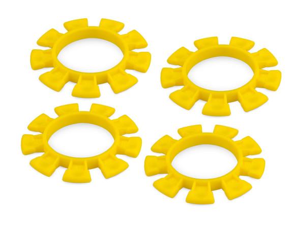 JConcepts 8115 Dirt Bands Tire Gluing Rubber Bands Yellow (4)