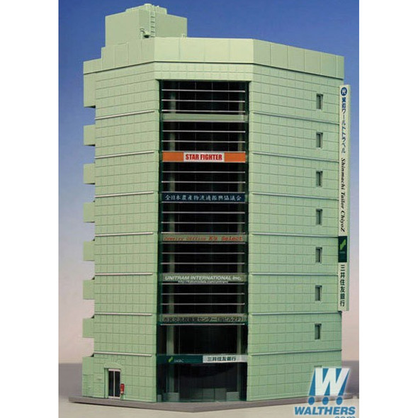 "Kato 23-436 Broadcast Building Kit - Gray - 5 x 4-1/2 x 8-3/4"" N Scale"