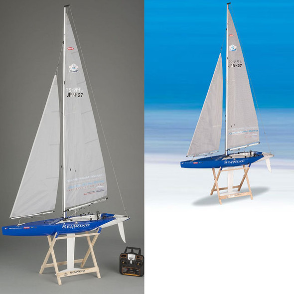 Kyosho Seawind RTR Racing Yacht / Sailboat w/ KT431S Radio & Wooden Stand 40462S-B