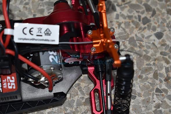GPM Racing Aluminum Rear Gear Box Grey : Losi 1/18 Mini-T 2.0