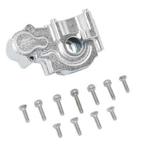 GPM Racing Aluminum Rear Gear Box Silver : Losi 1/18 Mini-T 2.0