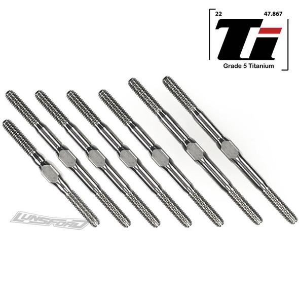 Lunsford LNS2011 3mm PUNISHER Titanium Turnbuckle Kit : Associated RC10B74