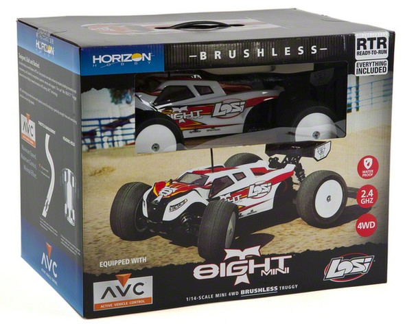 Losi 1/14 Mini 8IGHT-T Truggy 4WD RTR with AVC™ Technology LOS01000