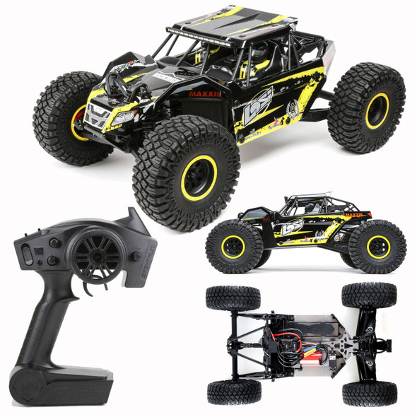 Losi LOS03009T1 1/10 Brushless Rock Rey 4WD RTR Racer with DX2E Radio AVC, Yellow