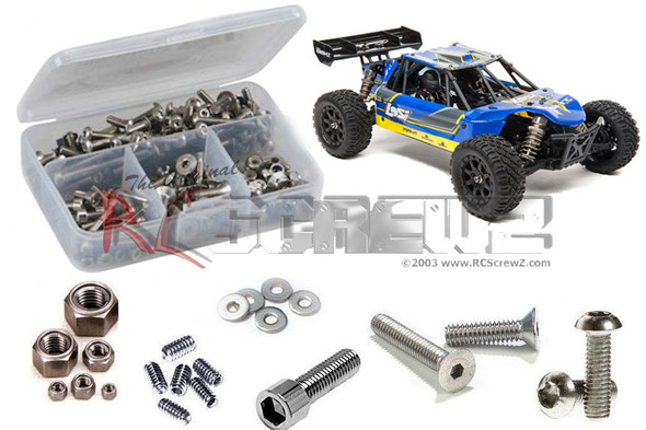 RC Screwz LOS107 Losi Mini 8ight DB 1/14th Stainless Screw Kit
