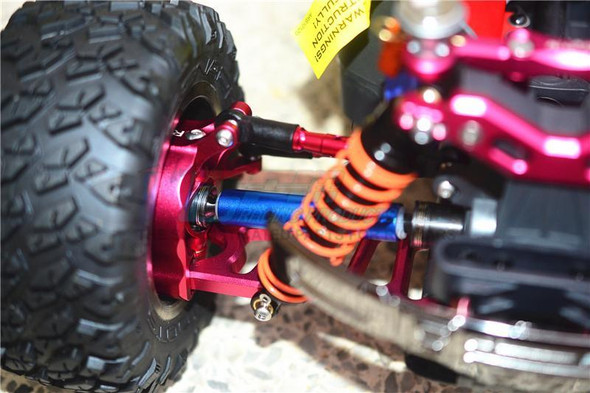 GPM Racing Steel + Aluminium Front Or Rear CVD Drive Shaft (2) Red : Big Rock
