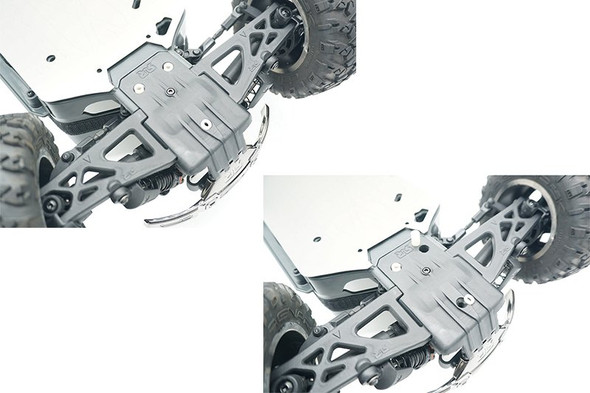 GPM Stainless Steel Skid Plates Front/Center/Rear Chassis Hollow Version : Big Rock