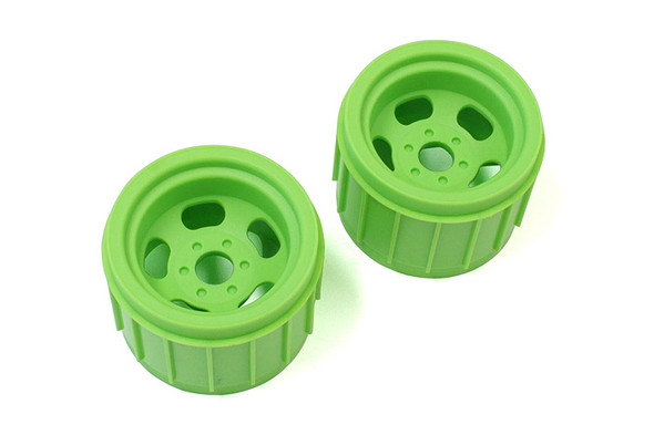 Kyosho MAH402KG Fluorescent Green Wheels (2) Fits 17mm Hex :  Mad Crusher