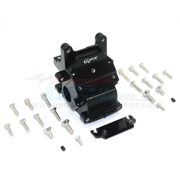 GPM Racing Alum Front/Rear Gear Box Black : Kraton / Senton / Typhon / Talion