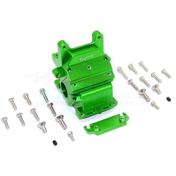GPM Racing Alum Front/Rear Gear Box Green : Kraton / Senton / Typhon / Talion