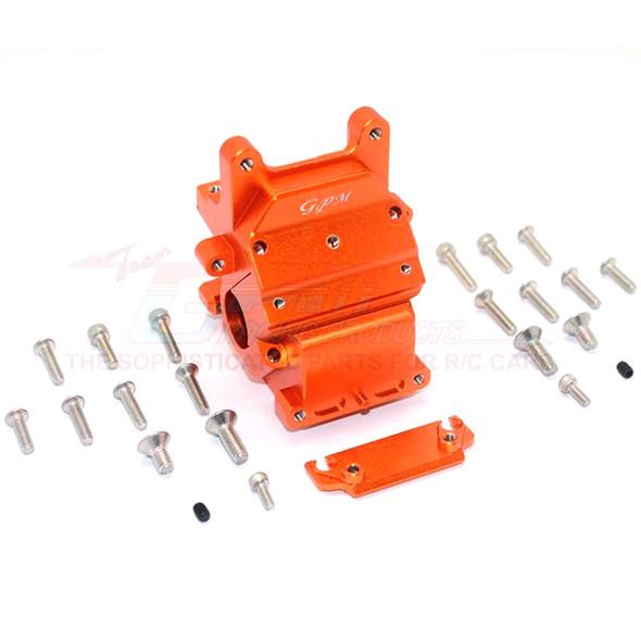 GPM Racing Alum Front/Rear Gear Box Orange : Kraton / Senton / Typhon / Talion
