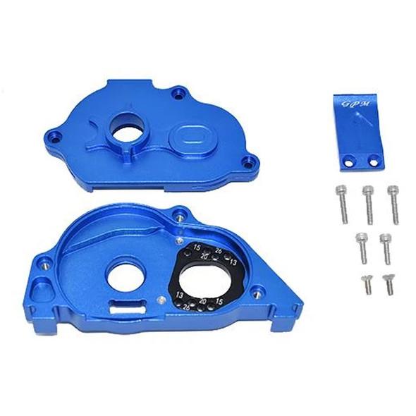 GPM Alum Rear Gear Protection Motor Mount Blue : KRATON 4S BLX / SENTON 3S BLX