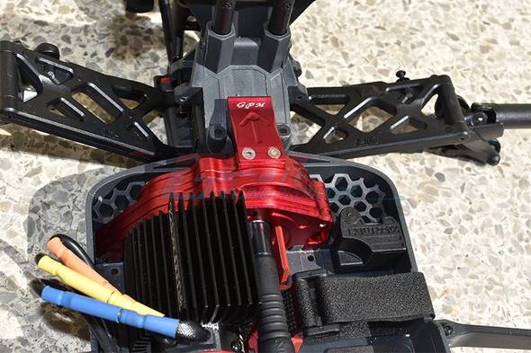 GPM Alum Rear Gear Protection Motor Mount Red : KRATON 4S BLX / SENTON 3S BLX