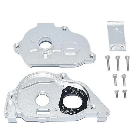 GPM Alum Rear Gear Protection Motor Mount Silver : KRATON 4S BLX / SENTON 3S BLX