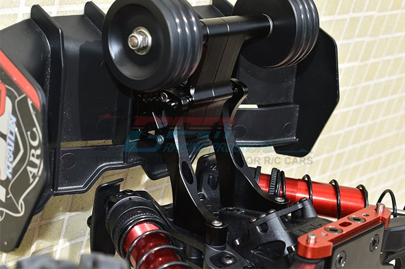 GPM Aluminum Rear Wheelie w/ Wing Mount Black : 1/5 Kraton / Outcast 8S BLX
