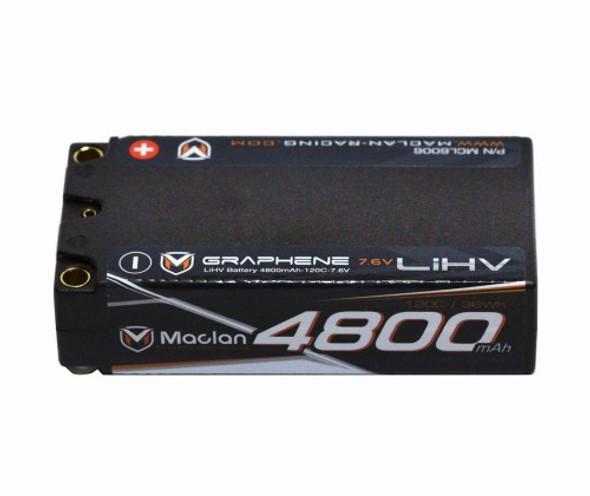 Maclan MCL6006 Racing Formula Graphene 7.6V 4800mAh HV Lipo Shorty 2S Battery