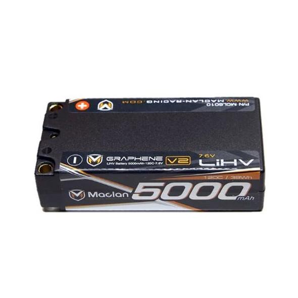 Maclan Racing MCL6010 Graphene V2 High Voltage 5000mAh 2S 7.6V Shorty Battery