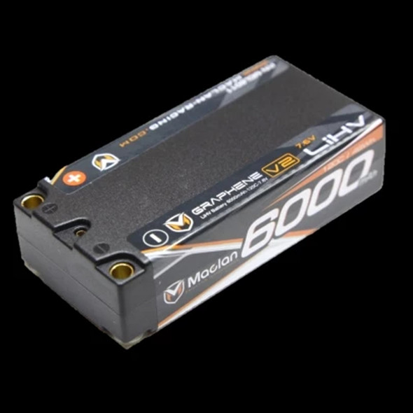 Maclan Racing MCL6011 Graphene V2 High Voltage 6000mAh 2S 7.6V Shorty Battery