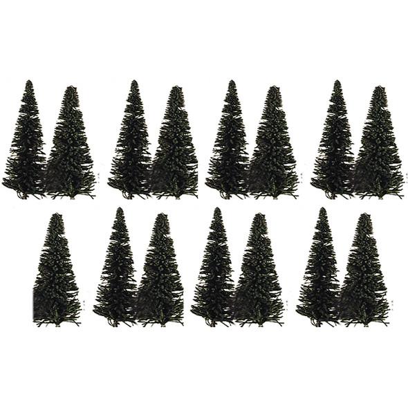 "Model Power 1425 Assorted Trees Evergreens 6"" Pkg (15) HO Scale"