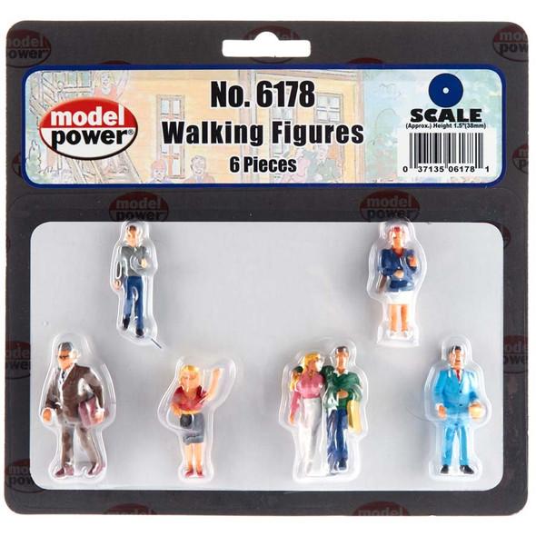 Model Power 6178 Walking Figures (6) : O Scale
