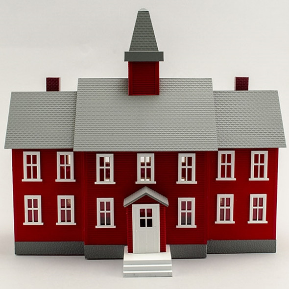 Model Power 6376 Little Red School House Built-up : O Scale