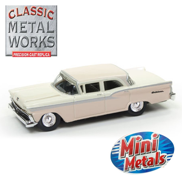 Classic Metal Works 30490 Mini Metals '59 Ford Fairlane Bermuda Sand 2-Tone 1:87 HO