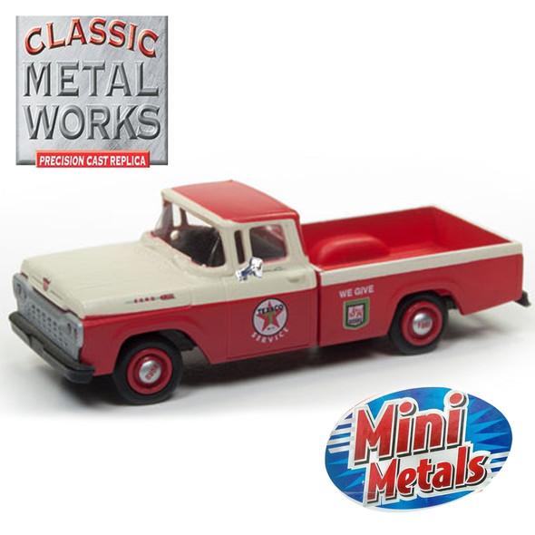 Classic Metal Works 30500 Mini Metals '60 Ford F-100 Pickup Texaco Service 1:87 HO