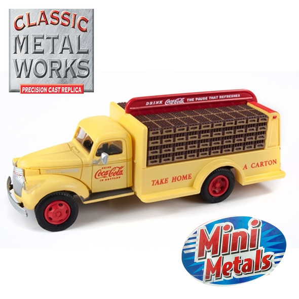 Classic Metal Works 30562 1941-1946 Chevy Bottle Truck Coca Cola 1:87 HO Scale