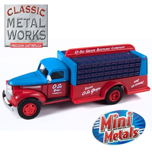 Classic Metal Works 30563 1941-1946 Chevy Bottle Truck O-So Grape 1:87 HO Scale