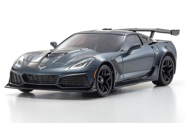 Kyosho Chevrolet Corvette ZR1 Metallic Gray Auto Scale Collection MR-03W-MM