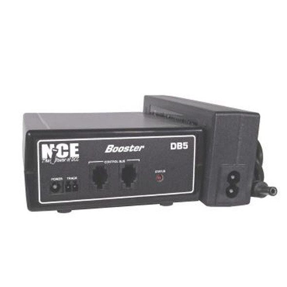 NCE 5240028 DB5 Booster 5 Amp of Power w/ Power Supply