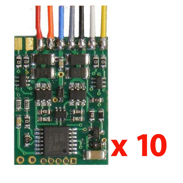 NCE 5240173 D13W-10 1.2 Amp Decoder 10 Pack