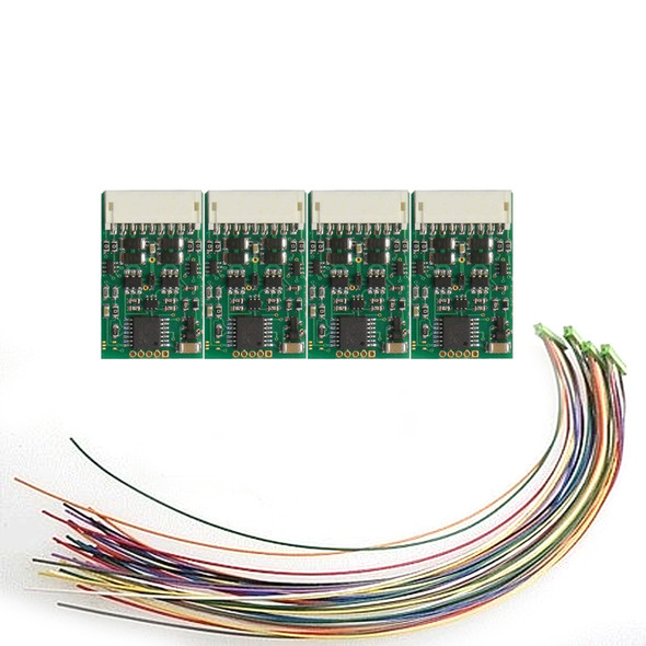 NCE 5240175 D13J 4-Function DCC Control Decoder w/9-Pin DCC Plug 4 Pack
