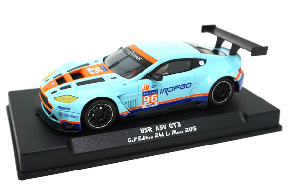NSR 0049AW ASV GT3 Gulf Edition 24H Le Mans 2015 #96 AW King 21 1/32 Slot Car