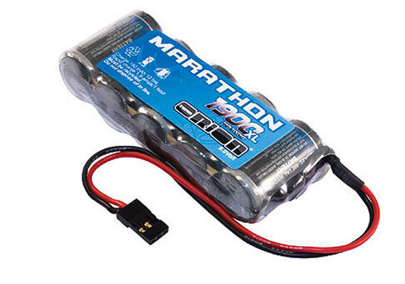 Team Orion ORI12252 Marathon XL 6V 1900mAh NiMH Battery 5C Flat Rx Pack