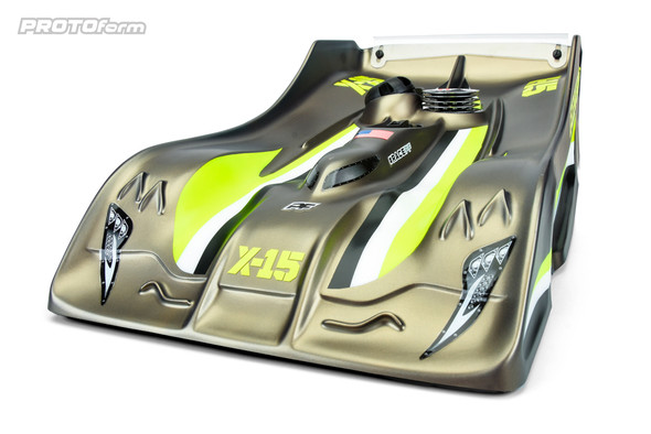 Protoform 1569-25 X-15 PRO-Lite Weight Clear Body : 1/8 On Road