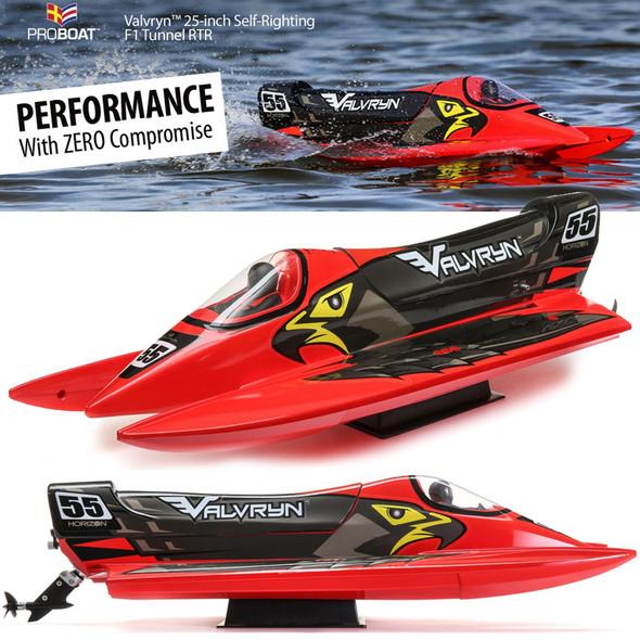 "Pro Boat PRB08033 Valvryn 25"" F1 Tunnel Hull Self-Righting RTR Boat w/ Radio"