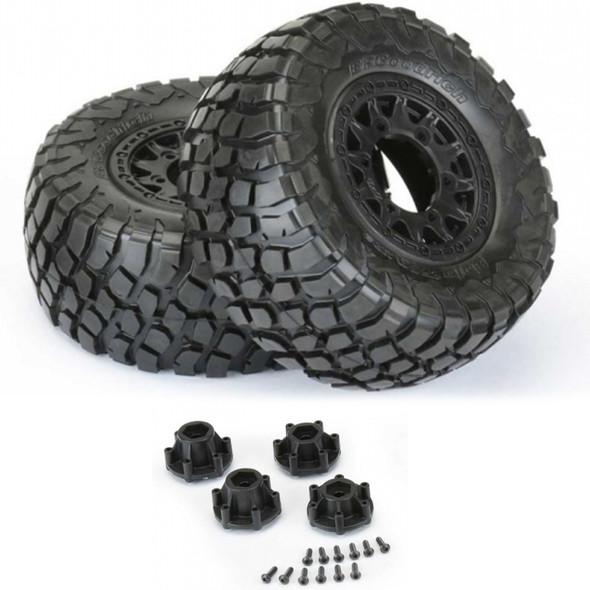 "Pro-Line BFG Baja T/A KR2 SC 2.2""/3.0"" M2 Medium All Terrain Tires (2) w/ Black Wheels"