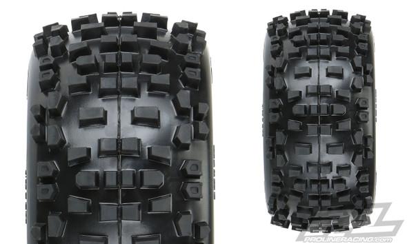 "Pro-Line 1178-10 Badlands 3.8"" All Terrain Tires Mounted w/ Black Wheels : F/R"