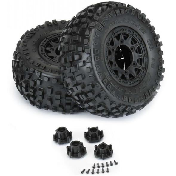 Pro-Line 1182-10 Badlands SC 2.2/3.0'' All Terrain Tires w/ Black Wheels : Slash 2WD/4WD F/R