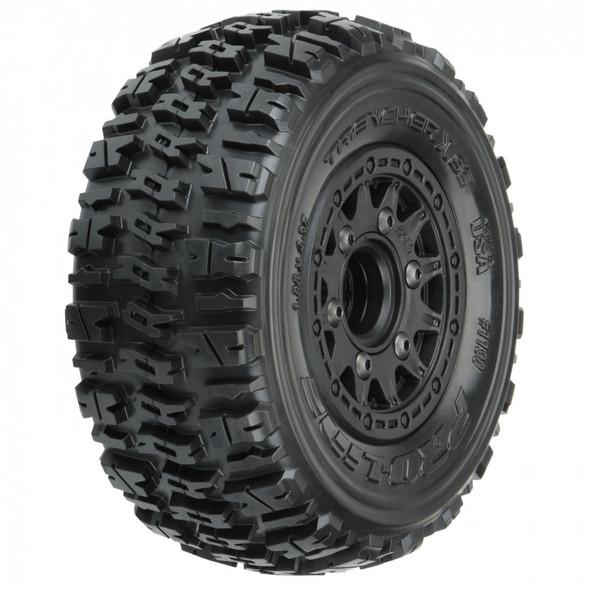 Pro-Line 1190-10 Trencher X SC 2.2/3.0'' All Terrain Tires w/ Black Wheels : Slash 2WD/4WD F/R