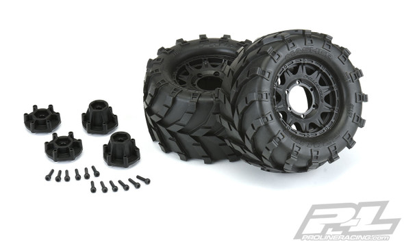 """Pro-Line 1192-10 Masher 2.8"""" All Terrain Tires/Wheels Mounted : Stampede/Rustler 2wd & 4wd Front & Rear"""
