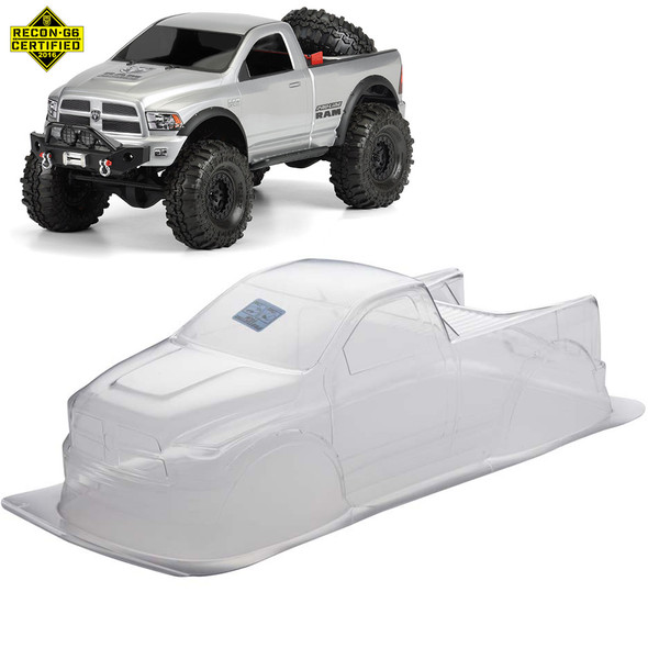 Pro-Line 3434-00 1/10 Ram 1500 Pickup Clear Body Rock Crawlers