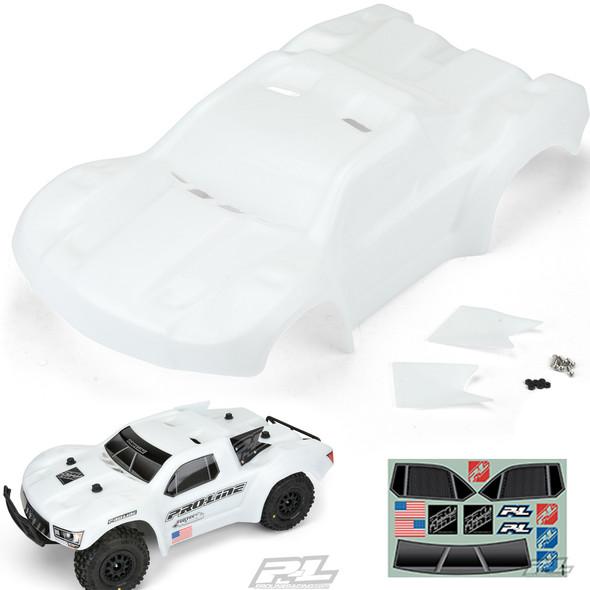 Pro-line 3458-15 PreCut FloTek Fusion Bash Armor White Body : Slash 2WD / 4X4