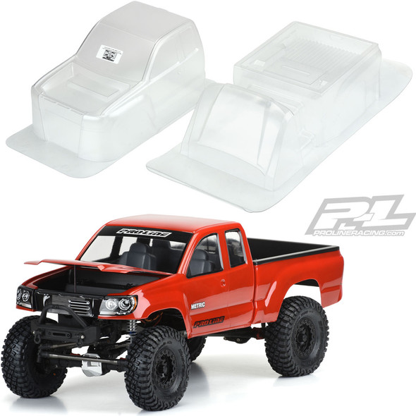 Pro-Line 3520-00 Builders Series: Metric Clear Body : Axial SCX10 / Vaterra Ascender